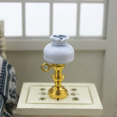 Dollhouse Miniature table Lamp Furniture Toy Pretend Play LED Light Wide