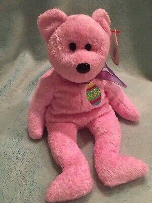 1a8773ad1d3 TY BEANIE BABY ~ EGGS the PINK EASTER BEAR ~ 8
