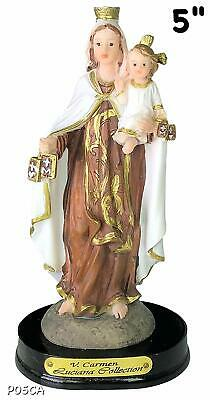 "5"" Virgen Del Carmen Our Lady of Mount Carmel Statue Virgin Catholic Decor New"