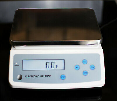 Electronic balance laboratory lab scales 0.1 g increments 6000 g 6 kg capacity