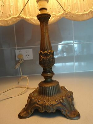 Heavy  Retro / Vintage Ornate Solid Brass Table Lamp,  French Provincial 37 cm