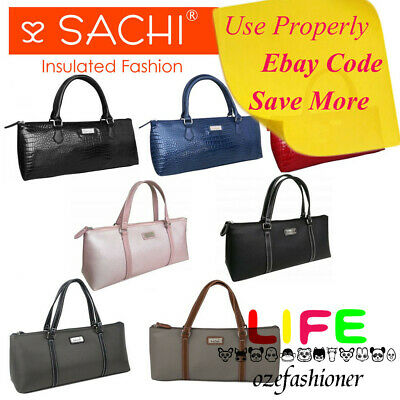 SACHI WINE PURSE Hand Bag Handbag Tote Insulated Cooler Handle 7 COLOURS IS