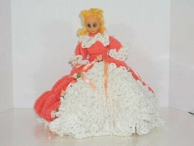 vintage crochet Bed Pillow Doll/missing Arm/RARE/ Southern Belle/ Vintage Dolls