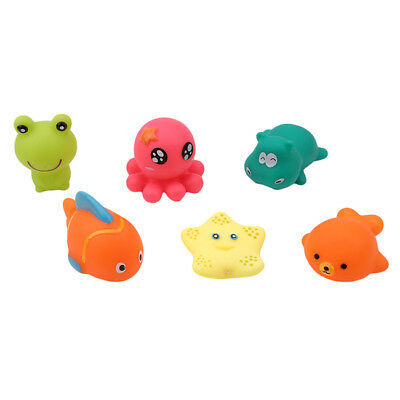 Mixed Animals Bath Toys Floating Squeeze Sound Squeaky Baby Bathing Toys one