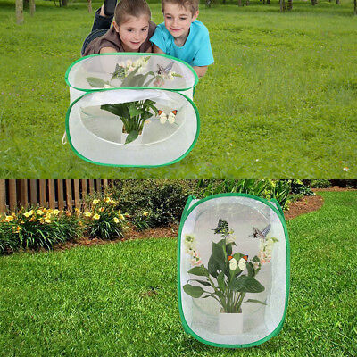 White Butterfly Habitat Collapsible Insect Habitat Cage Terrarium Portable N7