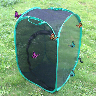 Black Collapsible Insect and Butterfly Habitat Net Kids Butterfly Net LH