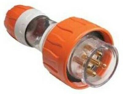 CLIPSAL 56-SERIES STRAIGHT PLUG 20A 500V 3-Phases 5-Round Pin, Resistant Orange