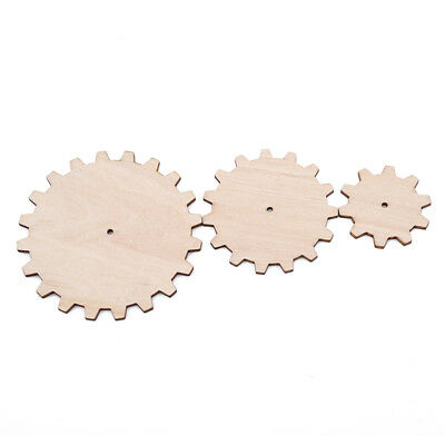 10 Pcs Wooden Unfinished Gear Cutout Chips for Board Game Pieces Arts Set N7