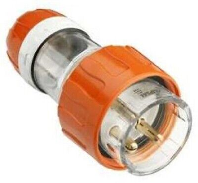 Clipsal INDUSTRIAL STRAIGHT PLUG 250V 3-Round Pin, Electric Orange- 20A Or 32A