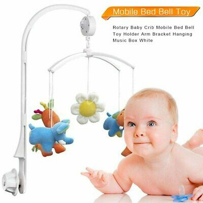 Baby Crib Mobile Bed Bell Holder Toy Arm Bracket Wind-up Music Box Sleep Hanger