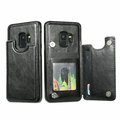 Leather Flip Wallet Card Holde Case Original For Samsung Galaxy S 7 8  edge Plus