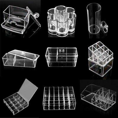 Transparent Acrylic Makeup Case Cosmetic Organizer Jewelry Holder Lipstick Box