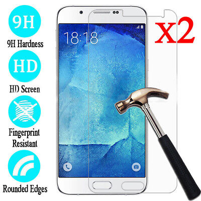 2X Tempered Glass Screen Protector Film for Samsung Galaxy J3 J5 J7 Pro 2017 UK*