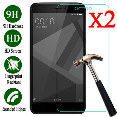 1/2x For Xiaomi Redmi Note 4 5A 9H Premium Tempered Glass Screen Protector Guard
