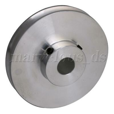 Silver Aluminum Alloy Single Groove 10mm Fix Bore Step Pulley for Round PU Belt