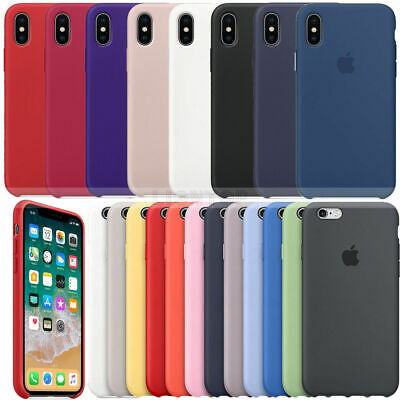 Genuine Hard Silicone Sottile Case Cover for Apple iPhone X XR XS MAX 7 8 6 Plus
