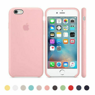 Original Ultra Suave Funda de silicona Funda para Apple iPhone X 8 7 6 6s 6 Plus