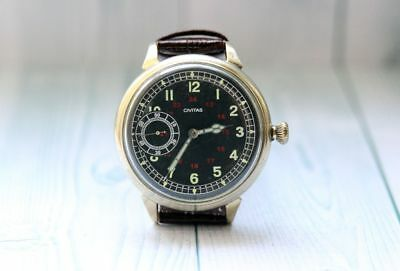 CIVITAS Military WWII Swiss men's Vintage Mechnical Wristwatch cal. 19E Servised
