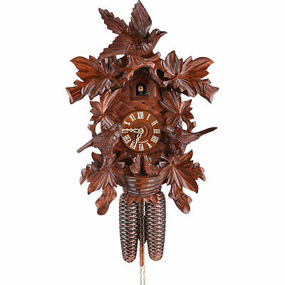 "Cuckoo Clock 8-day-movement Carved-Style 16.5"" by Hekas"