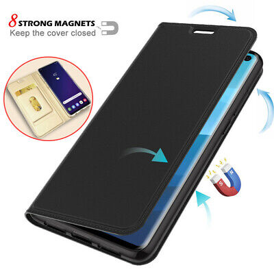 For Samsung Galaxy S10E S10 S9 Plus Magnetic Flip Leather Card Wallet Case Cover