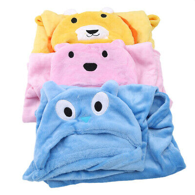 Newborn Cute Animal Cartoon Blanket Hooded Bathrobe Toddler Bath Towel For Kids
