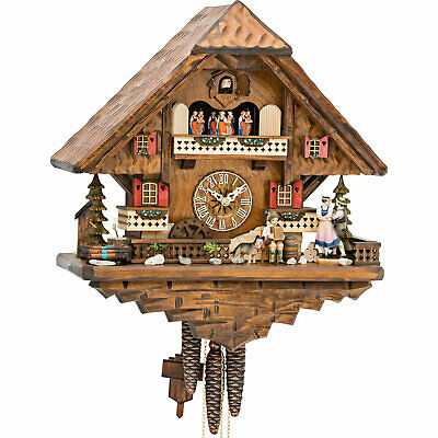 "Cuckoo Clock 1-day-movement Chalet-Style 16.5"" by Hekas"