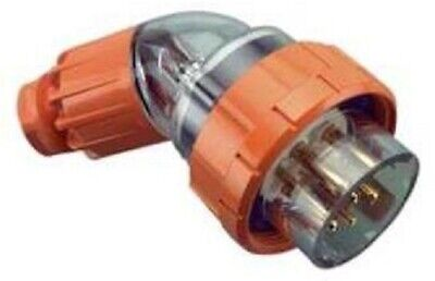 Clipsal INDUSTRIAL ANGLE PLUG 500V 7-Round Pins, Electric Orange- 10A Or 20A