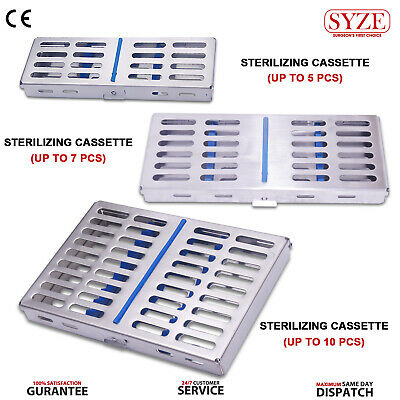 3X Orthodontic Sterilization Cassettes Set Dental Instrument Rack Tray Box SYZE