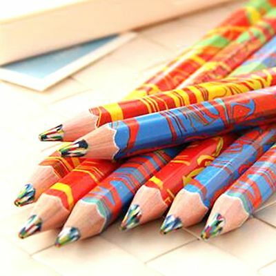 Delicate Rainbow Pencils for Drawing Colored Pencils kids Drawing Colored Pencil