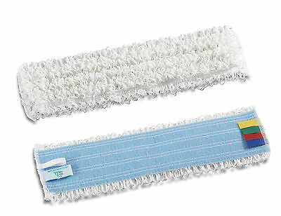 White 40cm Flat Microfibre Mop Head for Bio Mop System Bucket-less System Sweep