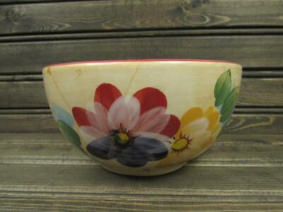 Gatherings by Heritage Mint Soup Bowl Fruit & Flowers Smooth Red Trim S140