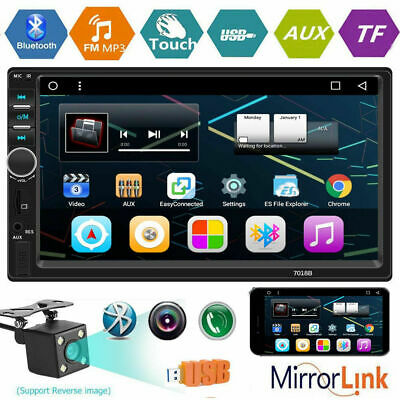 """7"""" Double 2Din Touch Screen Car Stereo MP5 Player Bluetooth FM Radio Mirror Link"""