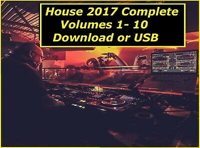 House DJ Collection - 2017 Complete Year - DOWNLOAD TODAY or USB -Funky 30GB MP3