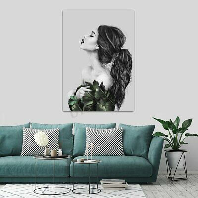 Girl Modern Canvas Print Painting Wall Art Picture Home Office Decor Unframed