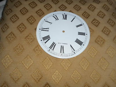 For American Clocks- Seth Thomas Paper Clock Dial-124mm M/T-GLOSS WHITE - Spares