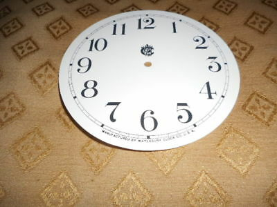 For American Clocks- Waterbury Paper Clock Dial-123mm M/T- GLOSS WHITE- Spares