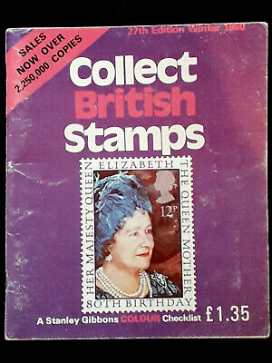 Vintage 1980 Collect British Stamps Stanley Gibbons Checklist Guide