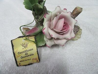 Hand Painted Porcelain Flowers From Capodimonte Italy