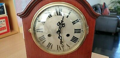 MANTEL CLOCK 1920`s NICELY PROPORTIONED (converted) HARRODS GIFT