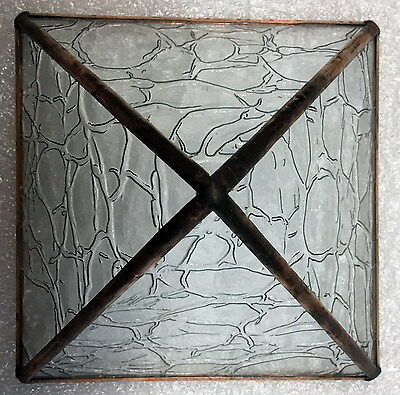 Clear Crackle textured Stained Glass and Copper Metaphysical Power Pyramid