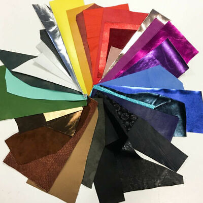 MIX Leather Scraps Colorful leather fabric pieces Precut DIY leather scrap packs