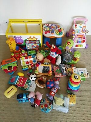Huge Bulk Lot of Baby & Toddler Toys, Books, Activities,Toy Box! Great condition