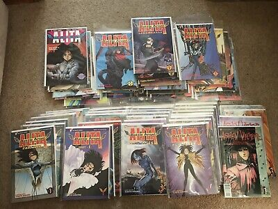 Complete Set Of Battle Angel Alita Comics Viz And Ashen Victor Spin Off Series