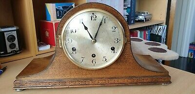 """Edwardian - """"napolian`s Hat""""-  Mantel Clock Westminster Chimes"""