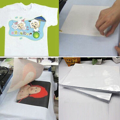 ^100 Sheets A4 Dye Sublimation Heat Transfer Paper For Polyester Cotton T-Shirt^