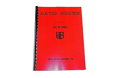 David Brown 25, 25D, 30C and 30D List of Parts (excluding engines) (41149)