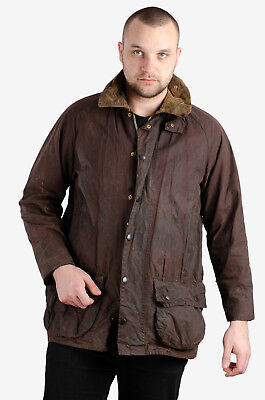 Grade C!! Vintage Barbour Beaufort Wax Jackets Brown Green C34-C50