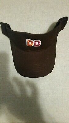 dc0cc336087 1 Dunkin Donuts DD visor Hat Brown one size fits all adjustable NEW
