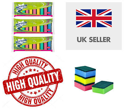 400 to 2 SPONGE CLEANING DISH WASHING CATERING SCOURER SCOURING PAD KITCHEN UK