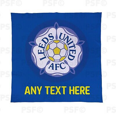 Leeds United FC Official Personalised LUFC Yorkshire Retro Fleece Blanket LFB015